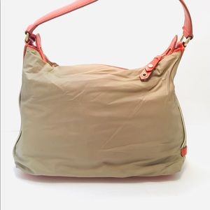 Cole Haan Bags - Cole Haan Tan Nylon & Leather Shoulder Bag